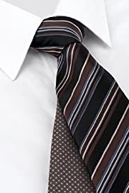 2 Pack Machine Washable Striped & Spotted Ties