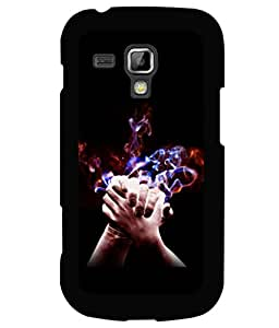 printtech Together Couple Love Back Case Cover for Samsung Galaxy S Duos S7562