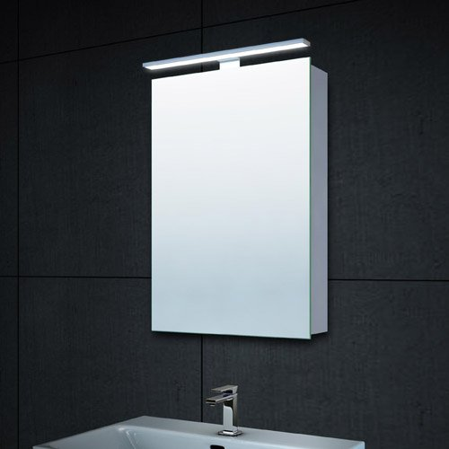 Lux-aqua-Design-Alu-LED-Beleuchtung-Spiegelschrank-Gste-WC-mit-610-Lumen-40x60cm-MC4601