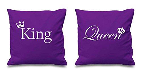 Re e la regina corona viola cuscino