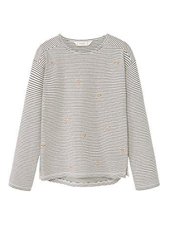 mango-kids-t-shirt-rayures-t-shirt-brode-taille9-10-ans-couleurblanc-casse