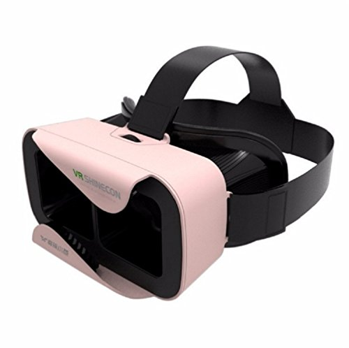 Lover VR BOX 3.0 Version VR Headset Virtual Reality Glasses with Adjustable Lens and Strap (pink)