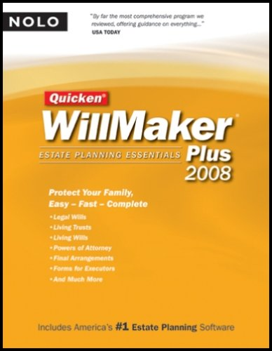 Quicken Willmaker Plus 2008 Edition: Estate Planning Essentials (Book with CD-ROM)