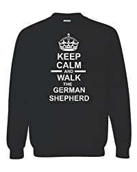 Keep Calm & Walk The German Shepherd Unisex Sweatshirt Jumper