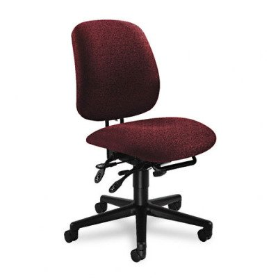 HON 7708AB62T 7700 Series Asynchronous Swivel and Tilt Task Chair, Seat Glide, Burgundy Olefin