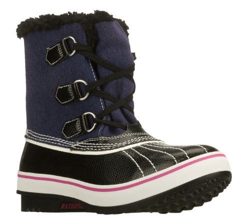 Skechers Highlanders Womens Waterproof Boots Black/Navy 8
