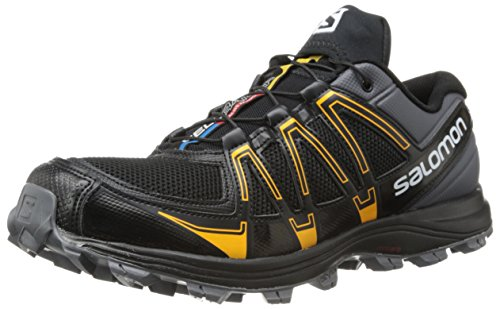 SalomonFellraiser - Scarpe Running Uomo, (Black (Dark Cloud/Black/Yellow Gold)), 42 2/3 EU