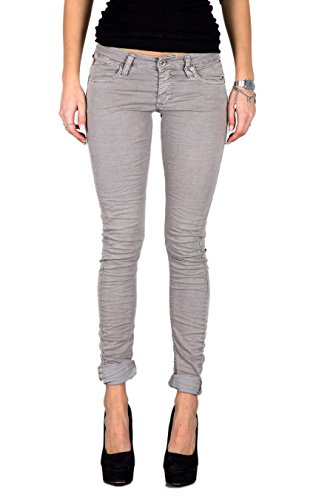 PLEASE - P21ecf84u jeans da donna pantaloni slim fit xxs grigio