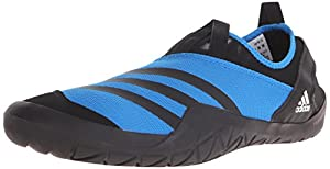 adidas Outdoor Men's Climacool Jawpaw Slip-On Water Shoe, Shock Blue/Black/White, 12 M US