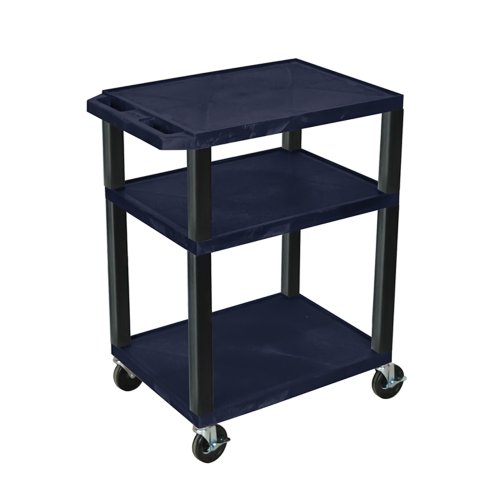 Luxor Wt34Hge Movable Multipurpose Topaz Tuffy Utility Serving Cart 34 With Black Legs
