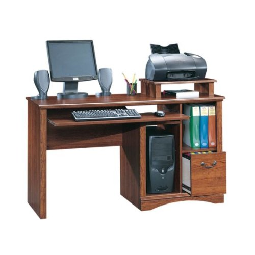 Buy Low Price Comfortable Computer Desk – Planked Cherry Finish (B004XESPJW)