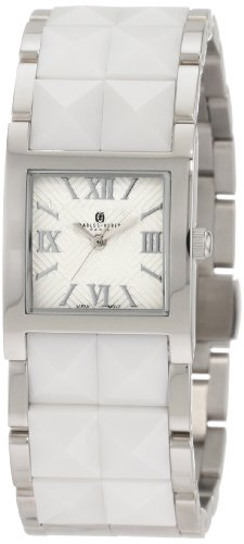 Charles-Hubert, Paris Women's 6787-W Premium Collection White Ceramic and Stainless Steel Watch
