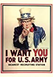 (13x19) I Want You for U.S. Army Uncle Sam WWII War Propaganda Art Print Poster