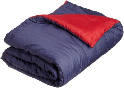 Martex Reversible Twin Comforter, Navy/Paprika