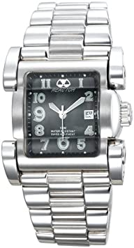 REACTOR Women's 83001 Ion Black Pearl Dial Stainless Steel Watch