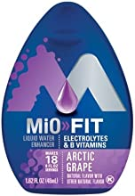 MiO Fit Water Enhancer - Arctic Grape makes 18 servings  Vitamins 162 oz each Pack of 5