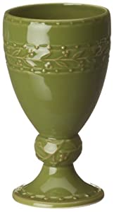 Signature Housewares Chelsea 12-Ounce Ceramic Goblets, Parsley, Set of 4