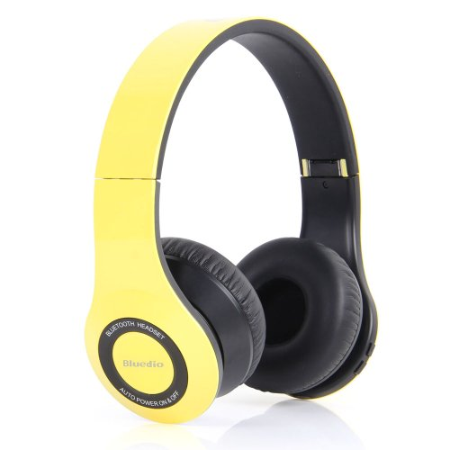 Bluedio Model B2 Colour Music Hi-Fi Rank Wireless & Bluetooth Headphones (Yellow)