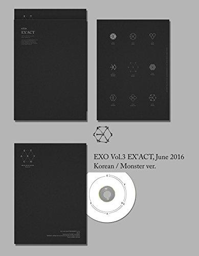 韓国語 Monster Ver (翻訳付) 初版 EXO 正規3集 EX'ACT (韓国盤)(2枚×初回ポスター/特典付)(ワンオンワン店限定)