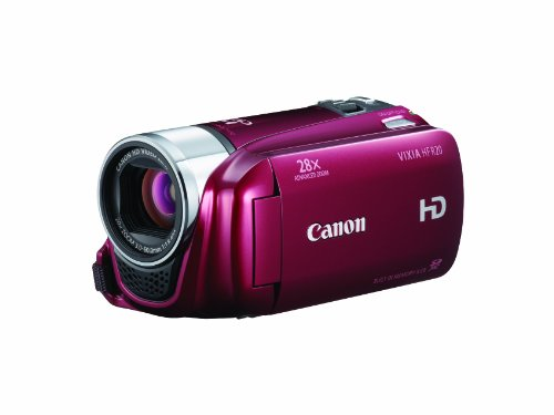 Canon VIXIA HF R20 Full HD Camcorder with 8GB Internal  Flash Memory (Red)