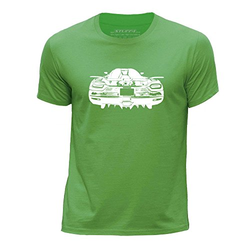 stuff4-boys-age-12-14-152-164cm-green-round-neck-t-shirt-stencil-car-art-agera