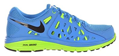 Nike Dual Fusion Run 2 Mens Fashion Sneakers Blue Black-Flash Lime-White by Nike