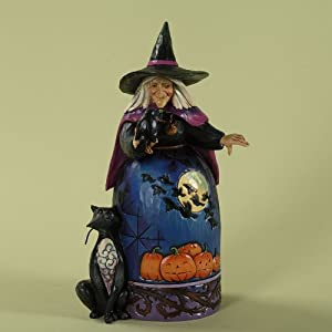 Enesco 4027793 Jim Shore Heartwood Creek Halloween Witch with Crow Figurine, 9-1/2-Inch