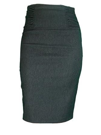 gathered high waist stretch pencil skirt including plus