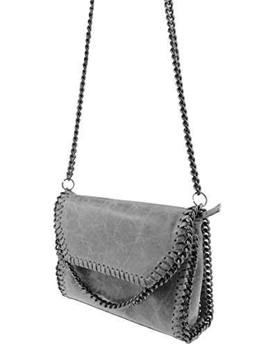 bag2basics-Flapbag-Echtes-Leder-made-in-Italy-Umhaengetasche-Clutch-Little-Jolene-hellgrau