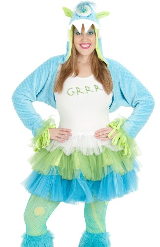 Princess Paradise Adult Neon Furry Grrr Monster Outfit Womens Halloween Costume