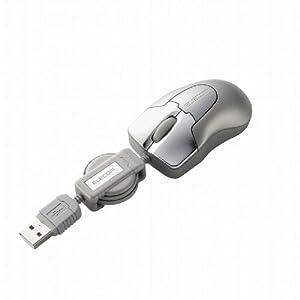 ELECOM Bit Grast 巻き取り式3ボタン光学式マウス Sサイズ シルバー M-BGURSV