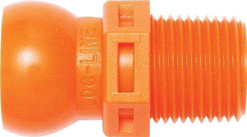 Loc-Line Coolant Hose Component, Acetal Copolymer, Connector, 1/2