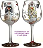 Bottom's Up 15-Ounce TLC Handpainted Wine Glass