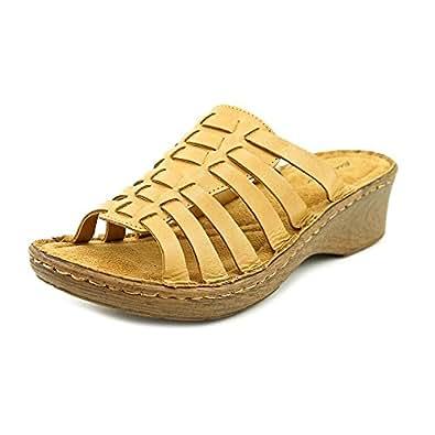 eddie bauer beige khaki slide sandals