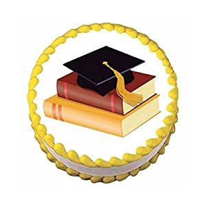 Amazon.com: Graduation Hat & Books ~ Edible Image Cake ...