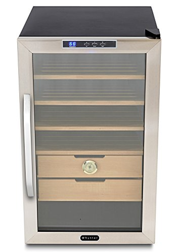Whynter Chc-251S Stainless Steel Cigar Cooler Humidor, 2.5 Cubic Feet front-212356