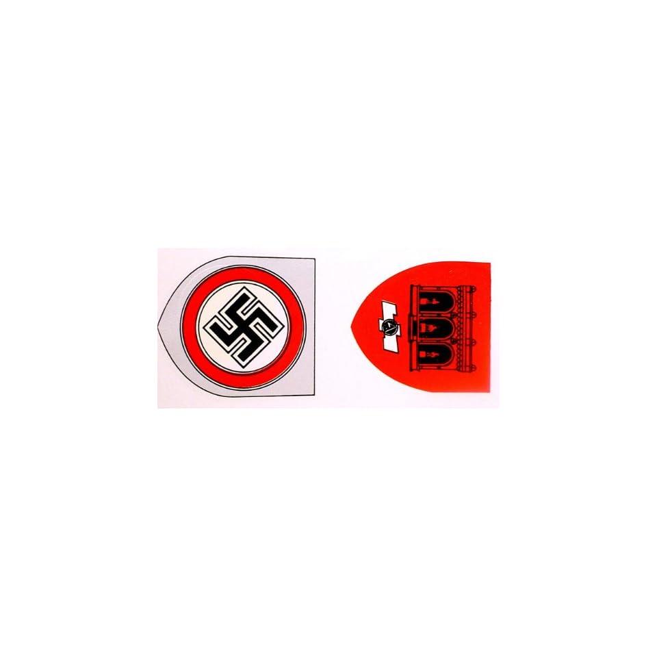 German ww2 helmet decal set sa feldhernhalle