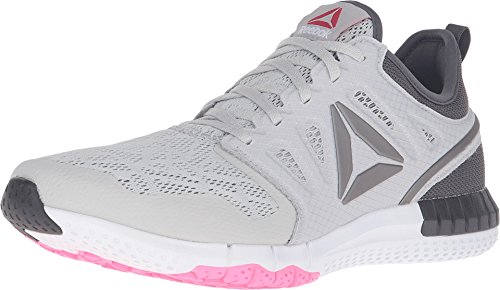 Reebok Women's Zprint 3D Avon Running Shoe, Skull Grey/Ash Grey/White, 9 M US