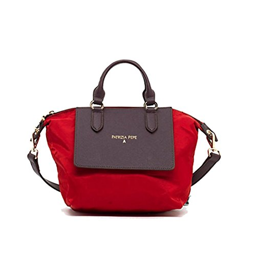 PATRIZIA PEPE Borsa Shopping Mini 2V6580 Red Nylon/Brown