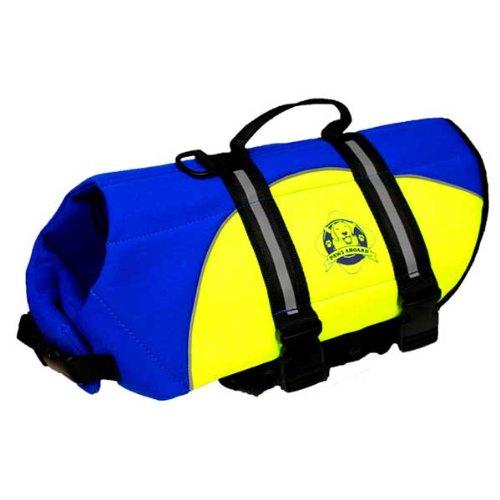 Image of Neoprene Doggy Life Jacket - Blue/Yellow - Medium (20 - 50 Lbs) (B0083L97H0)