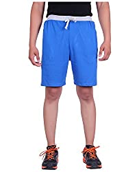 DFH Men's Cotton Shorts (MNLB2, Blue, 34)