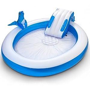 Piscina gonfiabile playground foca seal slide con scivolo - Amazon piscina bambini ...