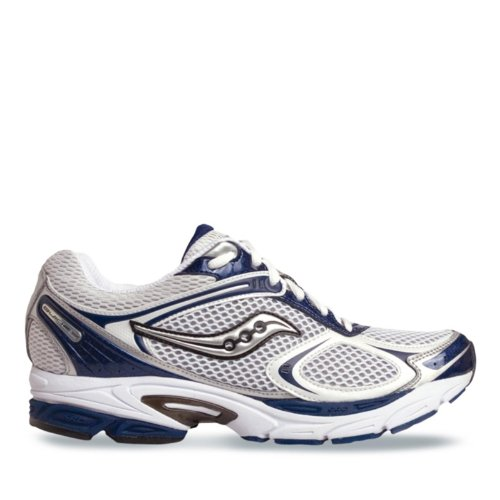 Saucony Progrid Guide 2 Stability Running Shoe Mens - White/Navy 10