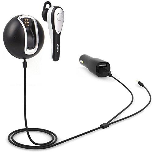 Bluetooth Empfänger, RAGU Bluetooth 4.0 Receiver Wireless Adapter Audiogeräte Inklusive Bluetooth-Kopfhörer, Zweifach-USB-Autoladegerät, integriertes Mikrofon, Magnetboden. Das Audio Streaming System für Ihr Auto - Schwarz