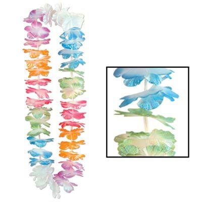 Silk 'N Petals Iridescent Lei (multi-color) Party Accessory  (1 count)