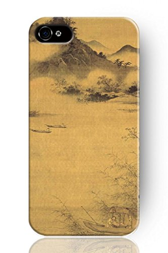 Sprawl New Fashion Design Hard Protect Skin Case Cover Shell For Mobile Cell Phone Apple Iphone 4 4S -Chinese Landscape Painting front-376581