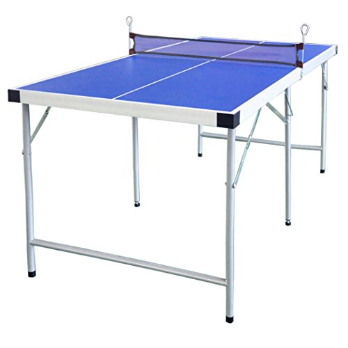 Great Features Of HLC 60'' Midsize Table Tennis Table with Bat and Balls