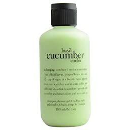 Basil Cucumber Cooler Shower Gel, Shampoo and Bubble Bath 6 Ounce