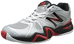 New Balance Men\'s MC1296 Stability Tennis Tennis Shoe,Silver/Red,11.5 D US