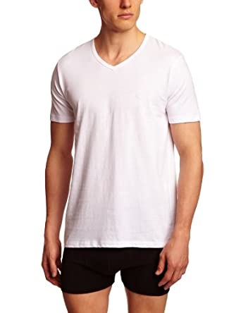 Emporio Armani Intimates Cotton V 3 Pack Men's T-Shirt White Small